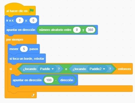 Tutorial programación Pong en Scratch - Paso 12